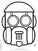 Robot Dome Outline Mask Template