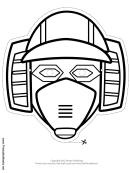 Robot Horizontal Outline Mask Template