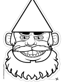 Gnome Beard Outline Mask Template