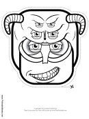 Creature Horns Outline Mask Template