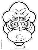 Creature Female Six Eyes Outline Mask Template