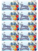 Hanukkah Snowflakes Gift Tag Template