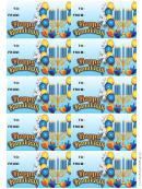 Hanukkah Balloons Gift Tag Template
