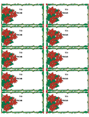 Christmas Holly Gift Tag Template