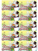 Christmas Snowman Gift Tag Template