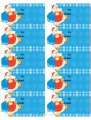 Christmas Santa Gift Tag Template