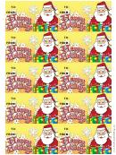 Happy Holidays Gift Tag Template - Santa Claus
