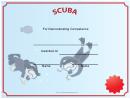 Scuba Certificate