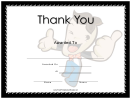 Thank You Large Certificate
