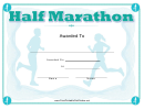 Half Marathon Certificate