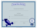 Soap Box Derby First Place Certificate