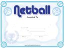 Netball Certificate