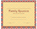 Family Reunion Certificate Template