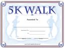 5k Walk Certificate