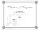 Certificate Of Recognition (chess) Template