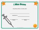 I Was Brave Shot Certificate