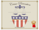 Crime Prevention Award Certificate Template