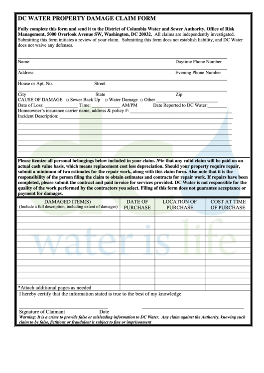 Top property damage release form templates free to for Property damage waiver template