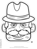 Wild West Mask Outline Template
