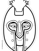 Roman Mask Outline Template