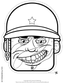 Soldier Mask Outline Template