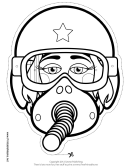 Pilot Mask Outline Template