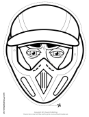 Baseball Mask Outline Template