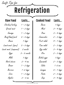 Refrigerator Tips Form