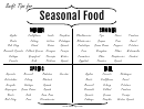 Seasons Food Guide