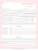 Pregnancy Doctors Visit Form