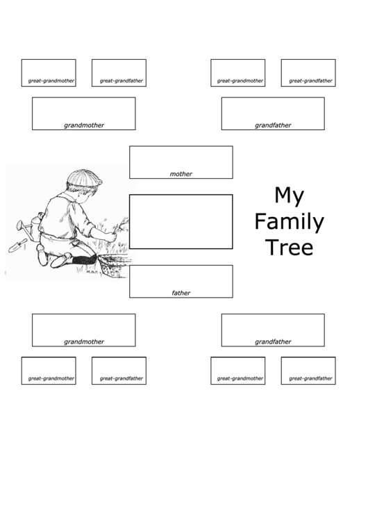 4 Generation Family Tree Template Printable Pdf Download