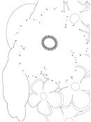 Flower Garden Dot-to-dot Sheet