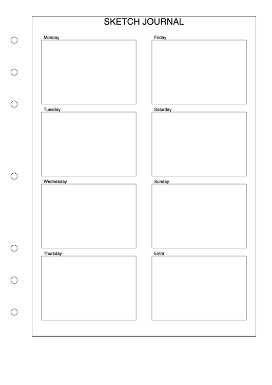 Weekly Sketch Journal Template
