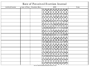 Rate Of Perceived Exertion Journal Template