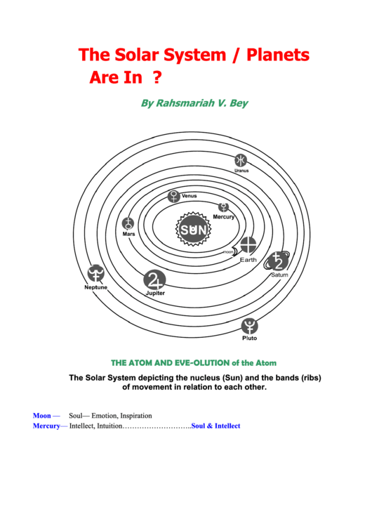 The Solar System - Planets Are In Order printable pdf download