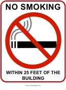 No Smoking Within 25 Feet