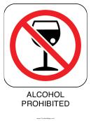 Alcohol Prohibited