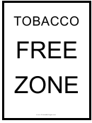 Tobacco-free Zone Sign Template