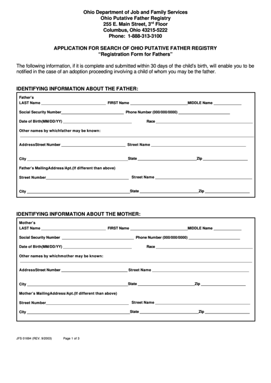 page_1_thumb_big Ohio Food Stamp Application Printable Forms on texas hhsc, forms fl, for virginia, for south carolina, missouri state,