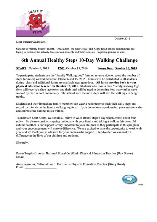 Healthy Steps Log Form Printable pdf