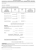 Residential Construction Cost Estimate Sheet