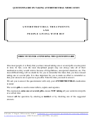 Questionnaire On Taking Antiretroviral Medication