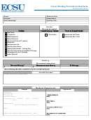 Career Banding Personnel Action Form
