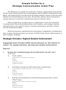Sample Outline For A Strategic Communication Action Plan