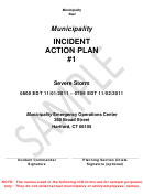 Municipality Incident Action Plan Template