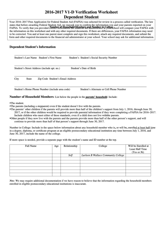 top 9 dependent verification worksheet templates free to download in pdf format. Black Bedroom Furniture Sets. Home Design Ideas