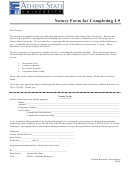 Notary Form For Completing I9 - Athens State University