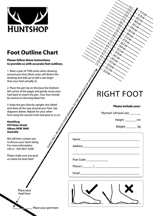 Foot Outline Chart