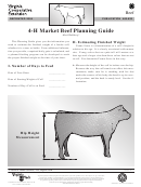 4-h Market Beef Planning Guide - Virginia Tech