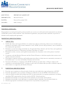 Physician Assistant Job Description Template